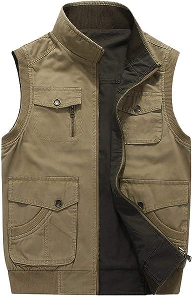 Double wear Plus Size 6XL 7XL 8XL AFS Jeep Brand Mens Vests Sleeveless  Jacket Cotton Casual Multi Pocket Vest Men Waistcoat Coat, Khaki, 5XL at  Amazon Men's Clothing store