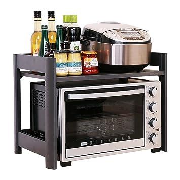 WENZHE Estantería Cocina Baldas Horno Microondas Condimento Almacenamiento Tipo De Suelo Productos Domésticos Multifunción Aleación De