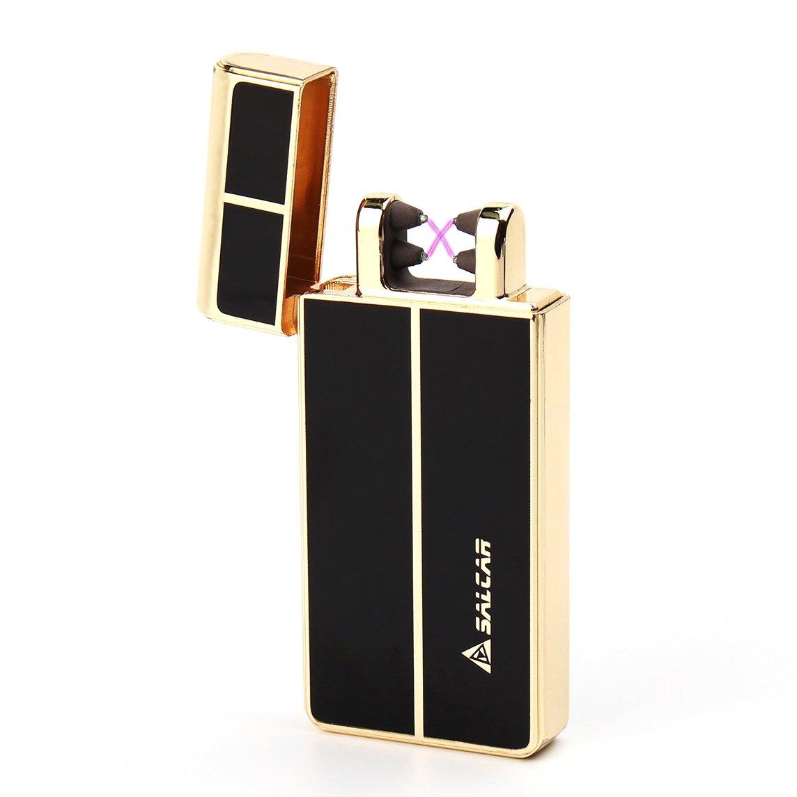 Salcar- USB elektronisches Feuerzeug aufladbar lichtbogen (Gold) 870531