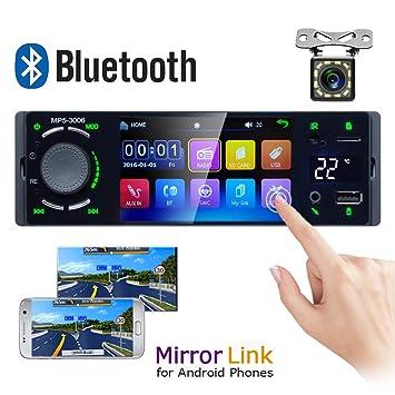 nur Android kaikki 7 Zoll Bluetooth Touchscreen Doppel Din Auto Stereo Player FM Radio Video Audio Bluetooth Unterst/ützung R/ückfahrkamera Spiegel Link Audio Receiver