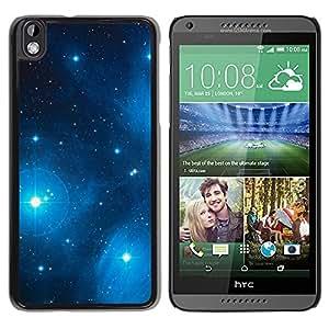 TikTakTok Funda Carcasa protectora para HTC DESIRE 816 - Blue Stars