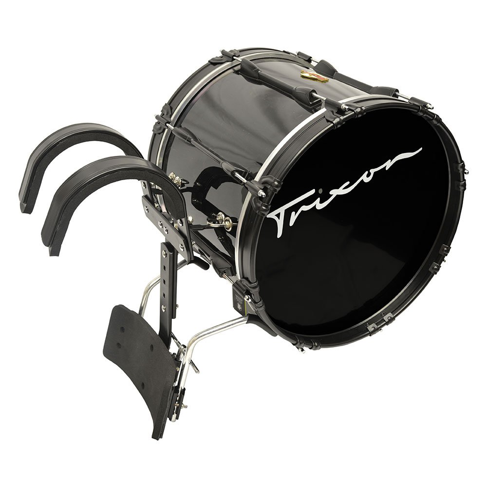 Trixon Field Series Pro Marching Bass Drum 18'' x 14'' - Black Polish