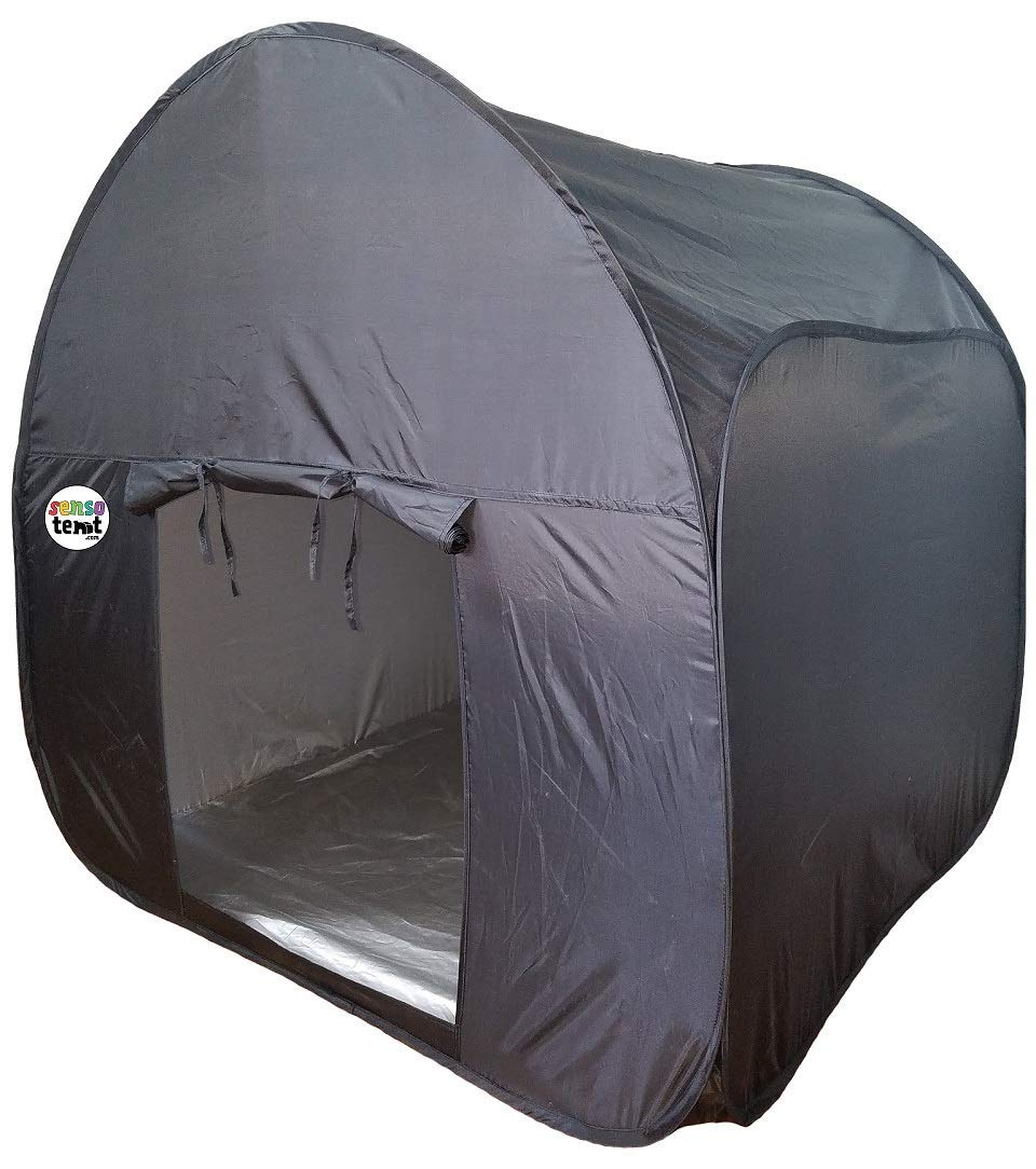 Sensory Pop-up Blackout Kids Play Tent for Boys and Girls- Autism, ADHD, Anxiety, SPD Gift-Large Indoor-Sensory Equipment