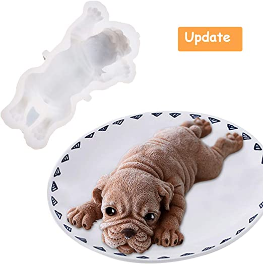 Superb Amazon Com Silicone Molds For Baking Dog Shape Cake Topper Shar Funny Birthday Cards Online Elaedamsfinfo