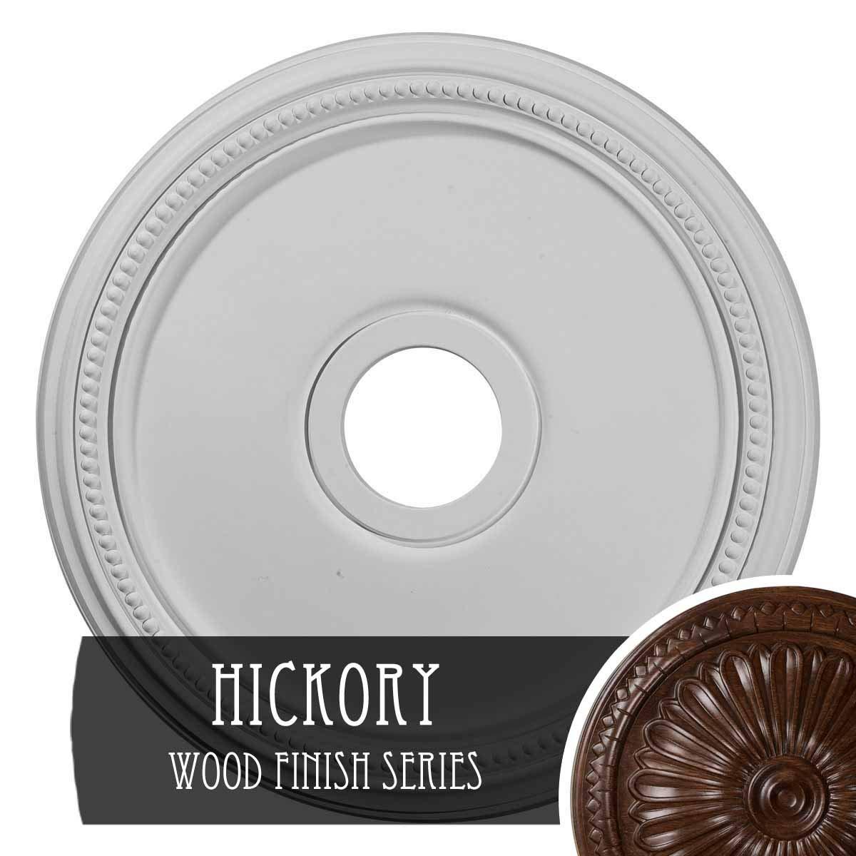 Ekena Millwork CM18DIHIS Diane Ceiling Medallion, Hickory