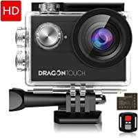 Dragon Touch 4K EIS Action Camera 16MP Vision 4 Support with 2 Batteries and Mounting Accessories Kit