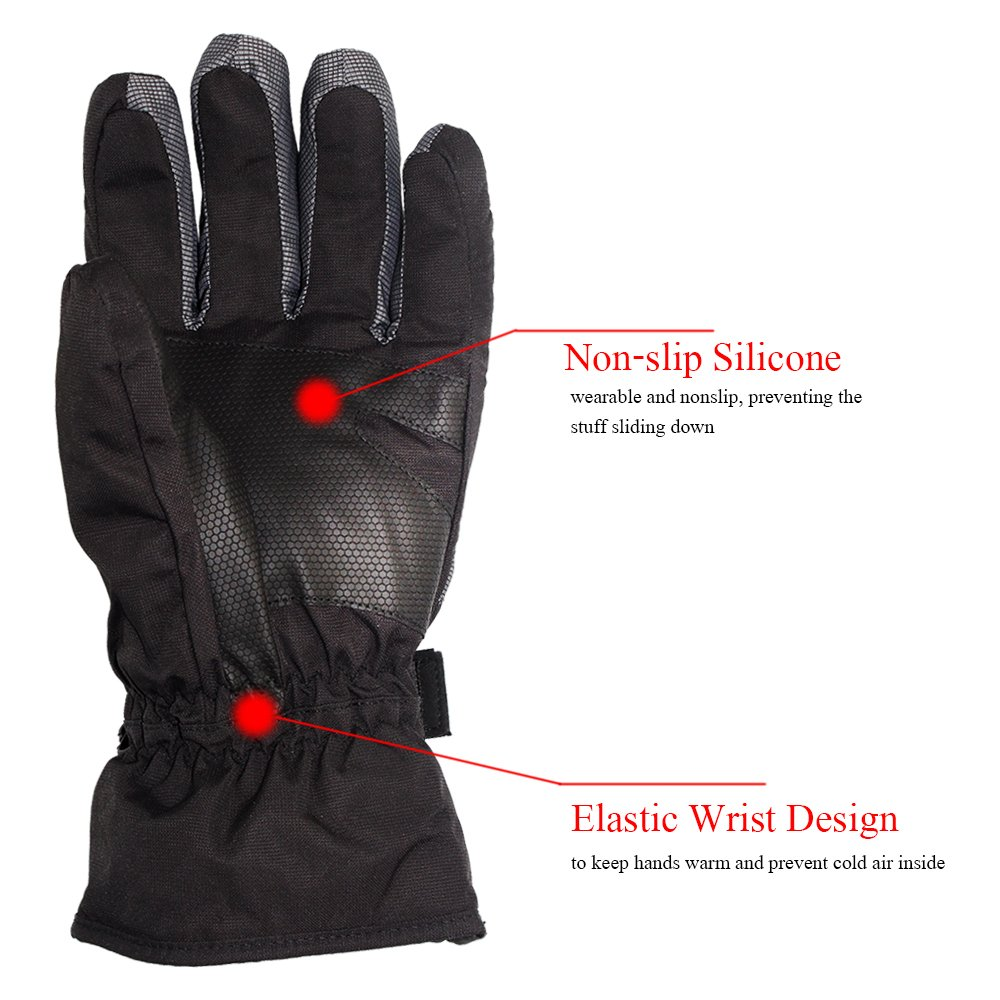 Motorcycle gloves to prevent numbness - Amazon Com Sharbay Winter Gloves Warm Waterproof Windproof Glove Biking Gloves Cold Weather Ski Snowboard Gloves For Men Women Sports Outdoors