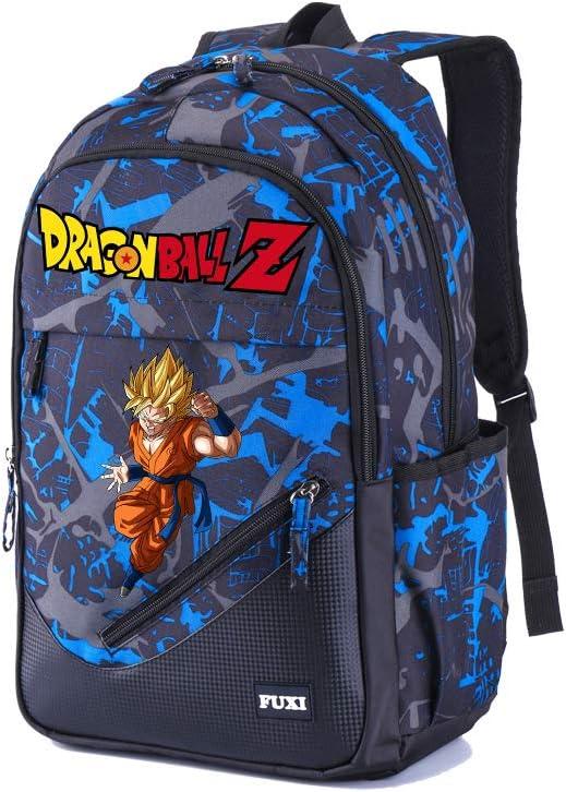Clairefontaine 812785C Goku Bleu Un Sac /à dos 2 compartimentss Dragon Ball Super 30x14x40cm