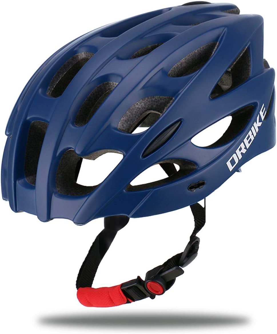 DRBIKE Bike Helmet with Lightweight PC Shell//Soft Replacable EPS Liner//Adjustable Strap and Dial Adjustable Cycling//Bicycle Helmet for Road//Mountain//BMX Men//Women//Youth Black /& Blue