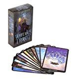 Leyeet English Edition Witch Tarot Deck Future Fate Indicator Forecasting Cards Set Collection Gifts
