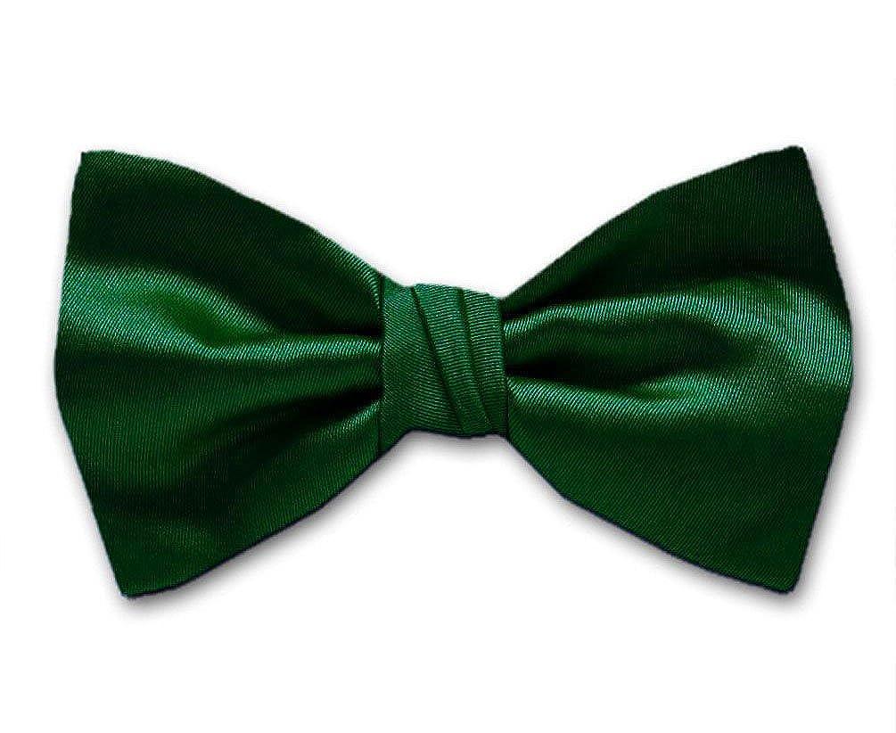 Hunter Green Solid Color Pre-Tied Bow Tie