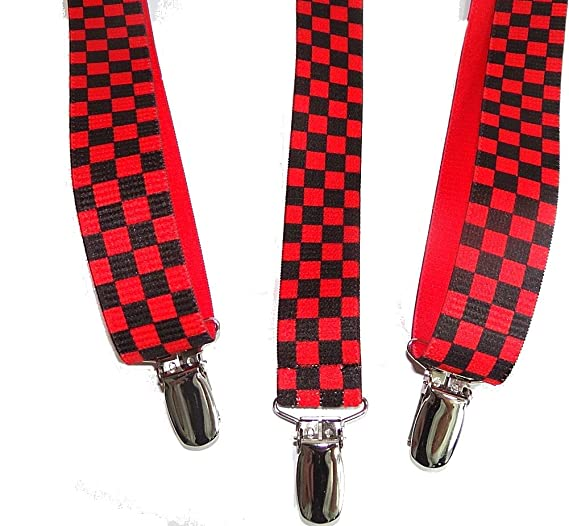 9560cdd458e Amazon.com  Hold-Ups Red and Black Checkered Flag 1