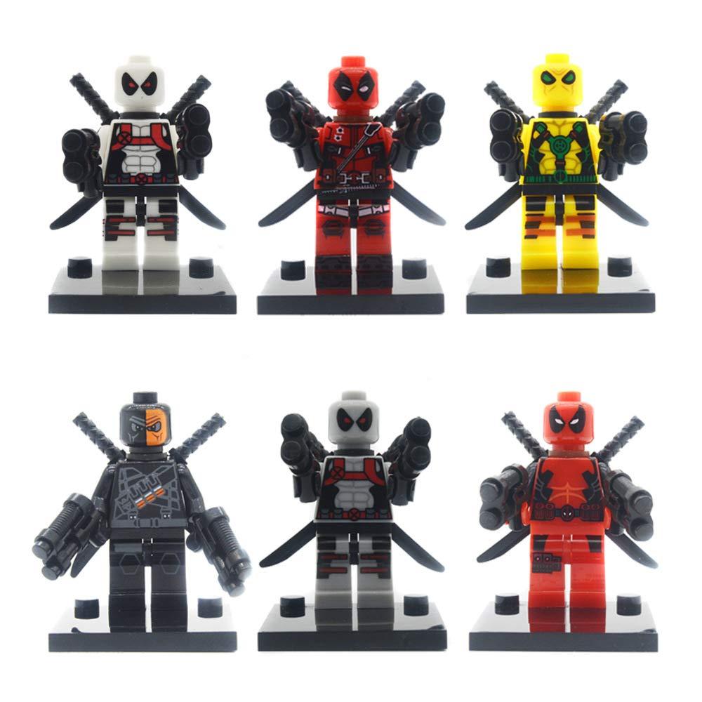 Unbranded 6Pcs/Set Super Heroes Armed Deadpool Model Building Block Toys Gift for Children Compatible cn