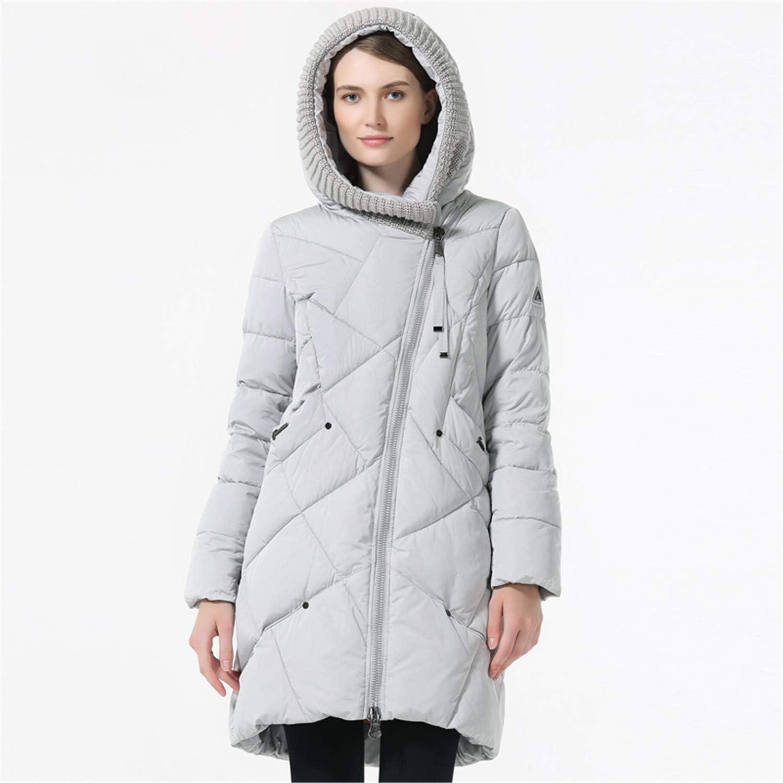 Uciquzhon Winter Collection Brand Fashion Thick Women Winter Bio Down Jackets Hooded Women Parkas Coats Plus Size 5XL 6XL Pink XXL