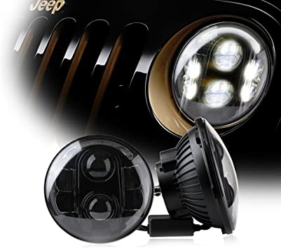 7 Inch Round G1 60W CREE LED Headlight Assembly For Harley Davidson Motorcycle
