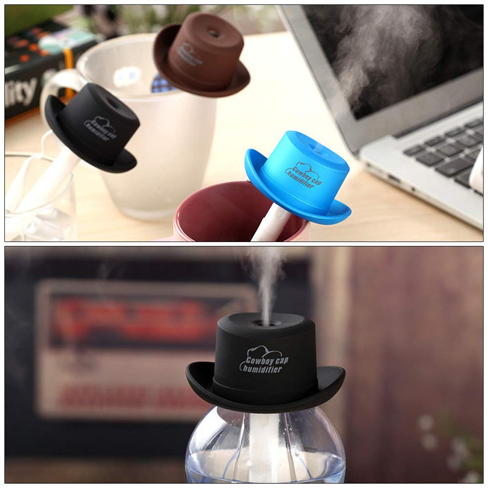 BEARCOLO Mini USB Air Humidifier Portable Bottle Cap Aroma Diffuser Car Mist Maker Air Purifier Fresher for Office Home Travel