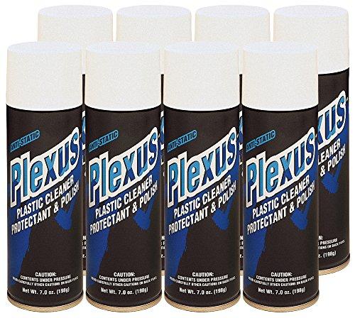 Plexus 20207-8PK Plastic Cleaner and Polish Aerosol, 7 fl. oz., 8 Pack