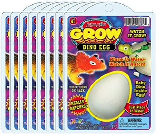 Ja-Ru Magic Grow Dino Egg (Party Favor Bundle Pack of 8)