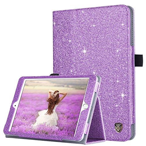 iPad Mini Case, iPad Mini 2 Case, iPad Mini 3 Case, BENTOBEN Glitter Sparkly Folio Folding Stand Cover with Holder & Auto Wake/Sleep Luxury Smart Case Without Stylus for iPad Mini 1/2/3, Purple