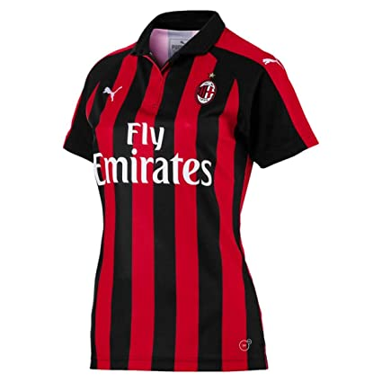 Amazon.com   PUMA 2018-2019 AC Milan Home Womens Football Soccer T ... 283fca9cf