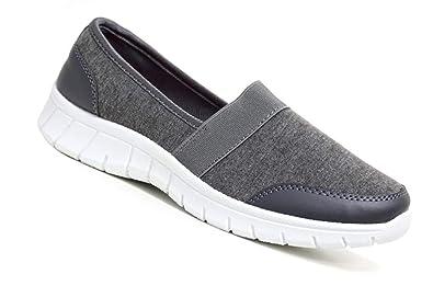 Hari Deals , Damen Durchgängies Plateau Sandalen mit Keilabsatz , grau -  grau - Größe: