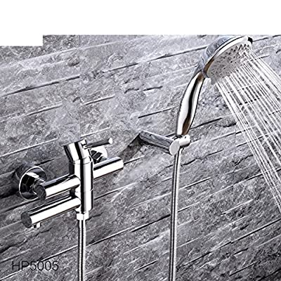 All copper bathtub faucet hot and cold/Solar water heater mixing valve shower faucet/Surface mounted shower faucet-A