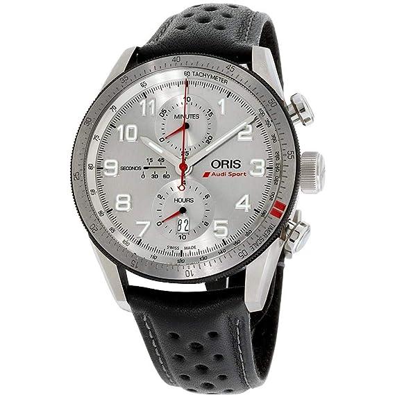 Oris Audi Sport Reloj de Hombre automático 44mm de Cuero 01 774 7661 7481-LSBLK: Oris: Amazon.es: Relojes