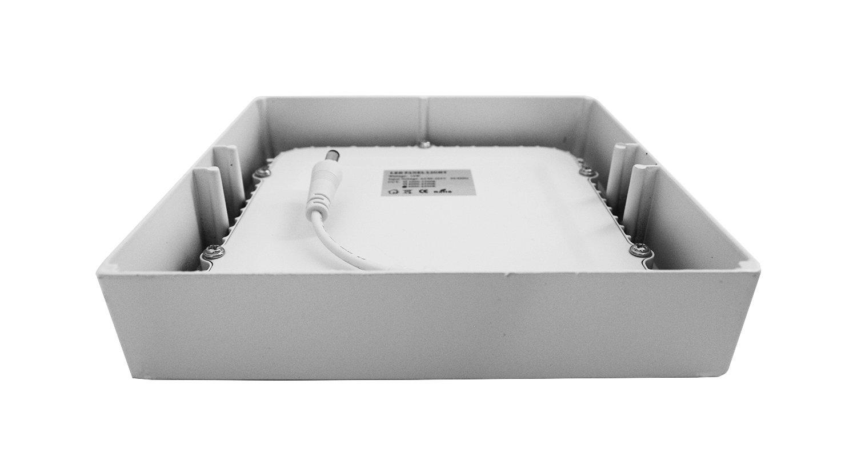 carr/é blanc Lumentech Downlight de surface /à LED plafonnier de surface 12W 4000K