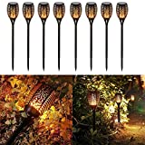 SUMAOTE Solar Path Torch Lights 96 LED Dancing Flame Lighting Flickering Torch Waterproof Wireless Outdoor Landscape Lights Dusk to Dawn Auto On/Off for Garden Patio Yard Driveway Pathway (Pack of 8)
