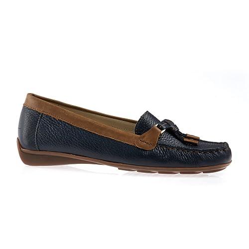 Van Dal Clovis - Mocasines de cuero para mujer White / Nude, color, talla 39: Amazon.es: Zapatos y complementos
