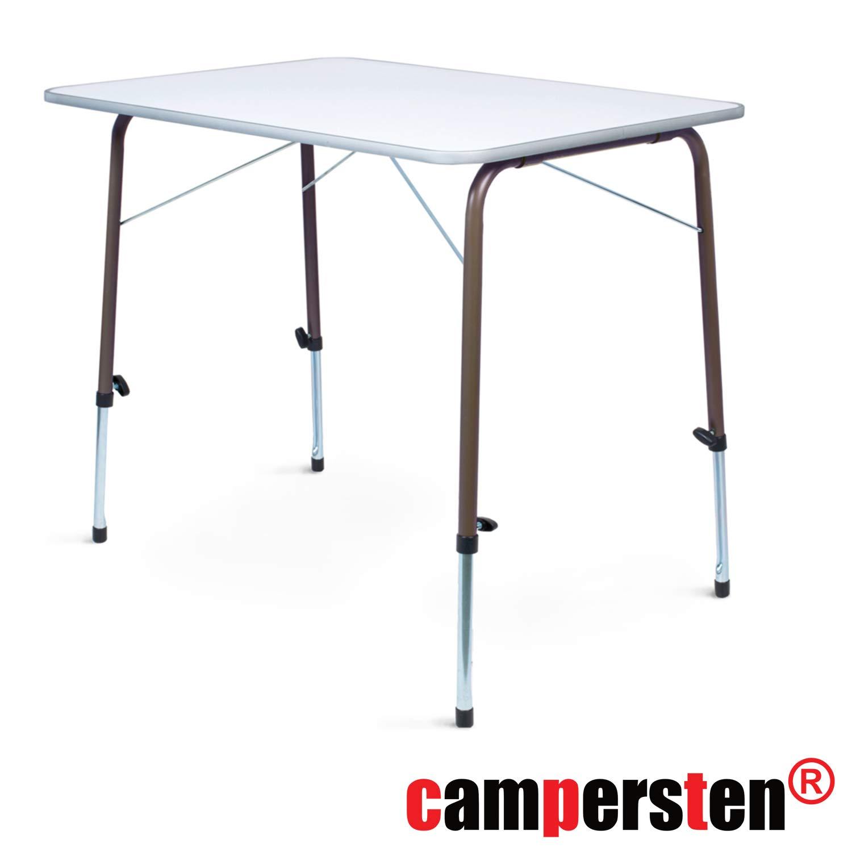 Campersten Design Campingtisch | EXTREM ROBUST und STABIL | höhenverstellbar | klappbar