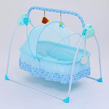 Yellow SANPLO Baby Swing Bassinet Cradle Electric Rocking Swings Bed Infants Automatic Baby Crib Boy