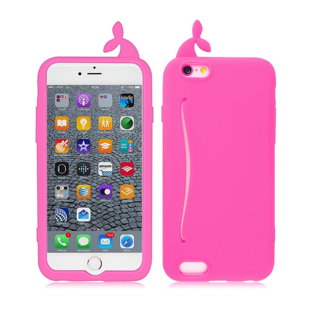 Amazon.com: iPhone 6/6s Case, FiveBox 3D Cute Whale Soft Silicone ...