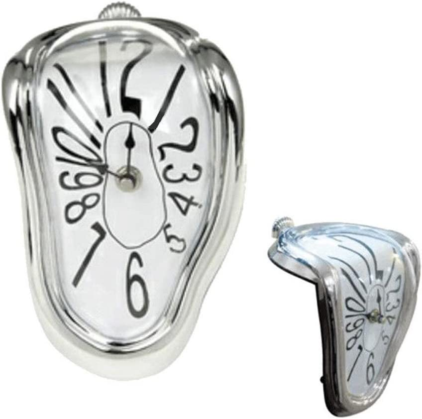 RD Reloj derretido Inspirado en el Cuadro de Salvador Dali, Cuarzo Plateado