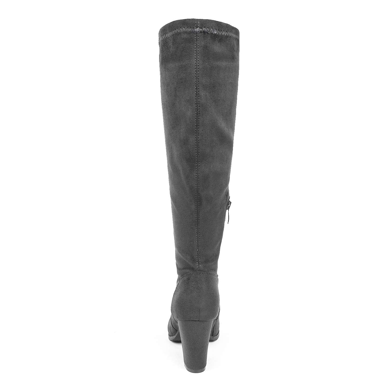 DREAM PAIRS Womens Chunky Heel Knee High and Up Boots