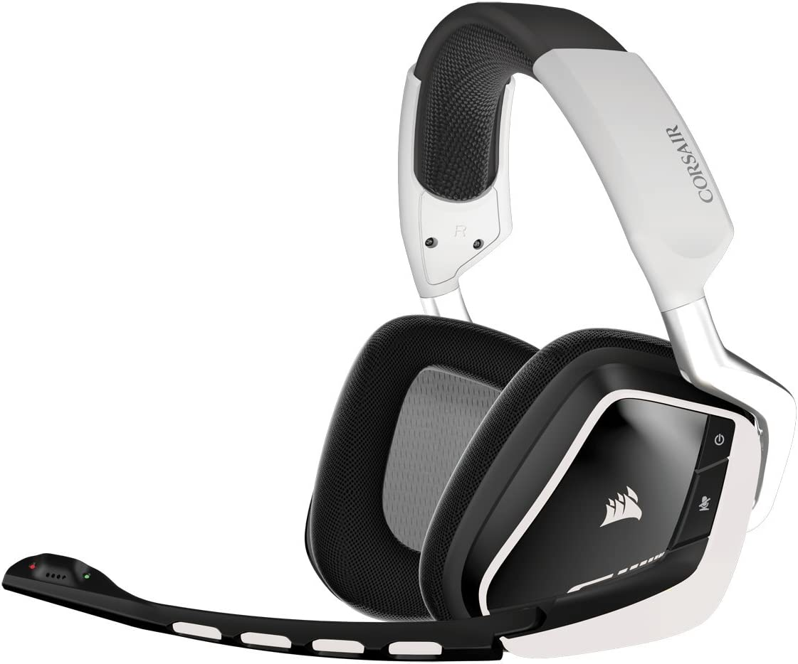 Amazon Com Corsair Void Wireless Rgb Gaming Headset White Computers Accessories