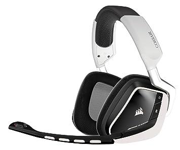 Corsair Void Wireless Binaural Diadema Negro, Blanco Auricular con micrófono - Auriculares con micrófono (