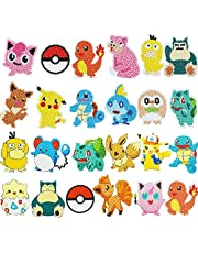 Herber 24 PCS 5D DIY Pikachu Diamond Painting Stickers Kit for Kids Diamond Painting Mosaic Sticker Art Kits by Numbers