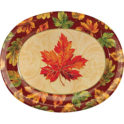 Creative Converting 324037 Party Creations 8 Paper Platter, Fall -