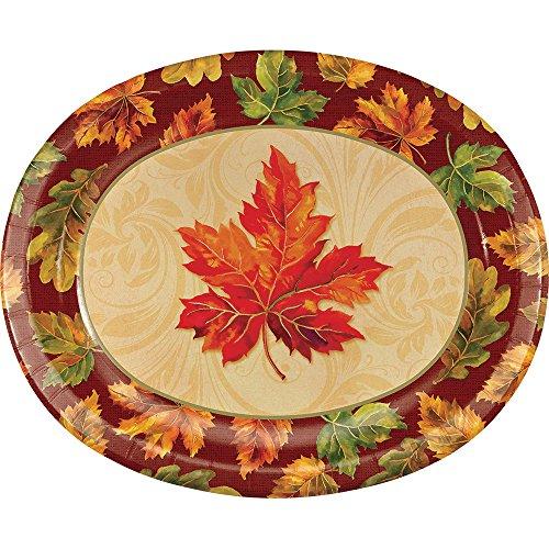Creative Converting 324037 Party Creations 8 Paper Platter, Fall - Flourish Fall