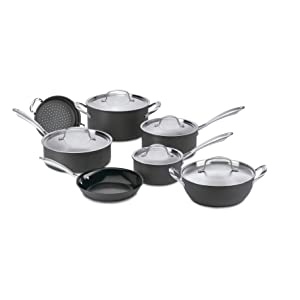 Cuisinart GG-12 GreenGourmet Hard-Anodized Nonstick Cookware Set