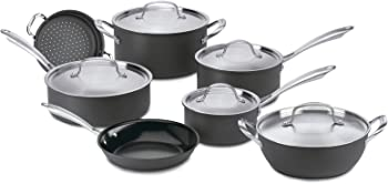Cuisinart GG-12 Green Gourmet Hard-Anodized Nonstick 12-Piece Cookware Set