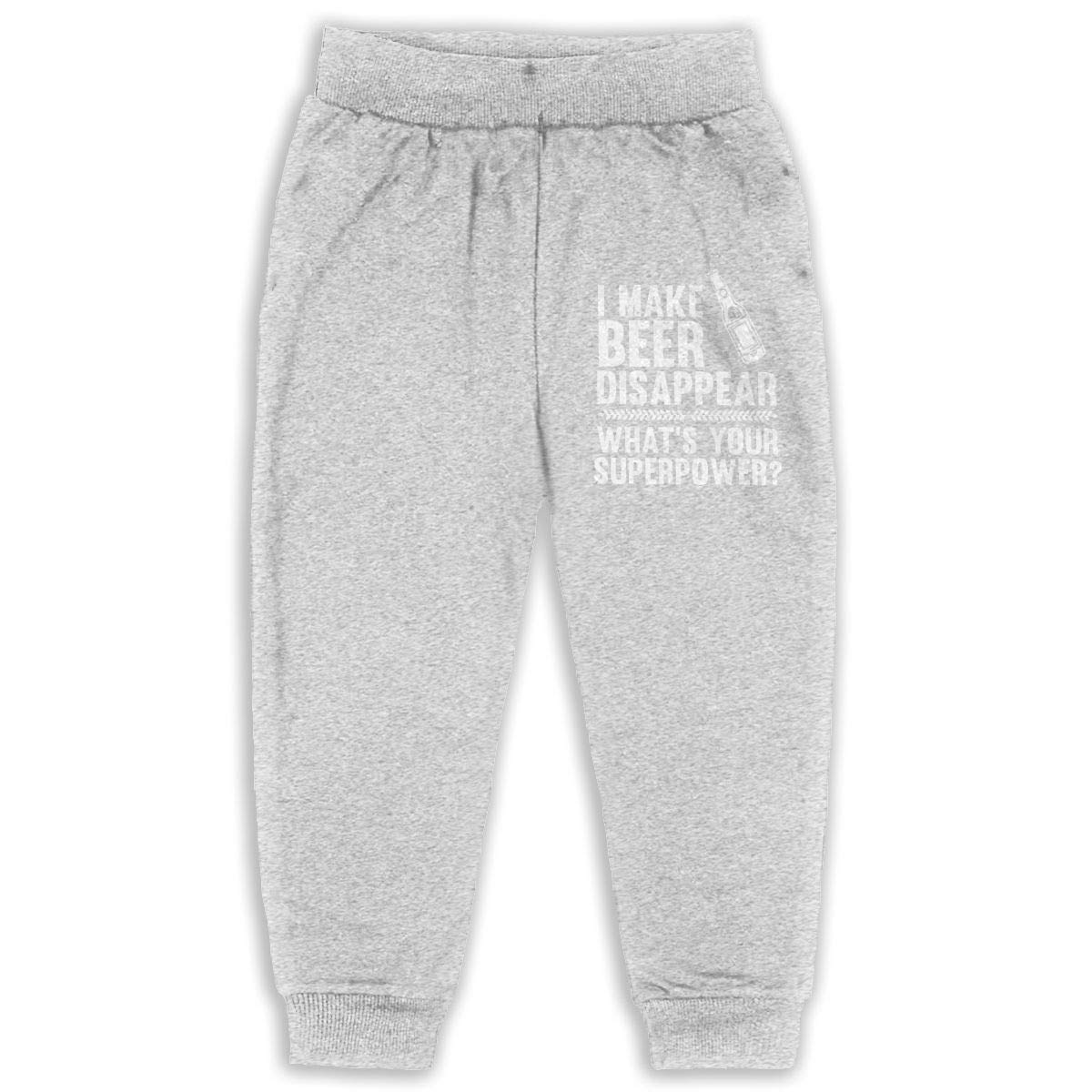 I Make Beer Disappear Superpower Beer Lover Drinking Child Boys Girls Unisex Sports Sweatpants Kids Casual Jogger Pants