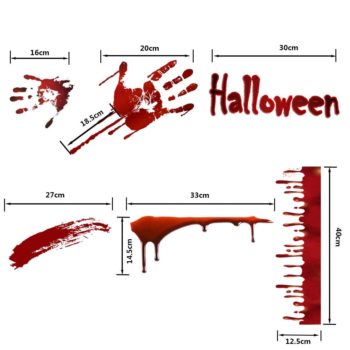 Lifetree Halloween Fensterfolie Glasfolie Blutig Handabdruck ...