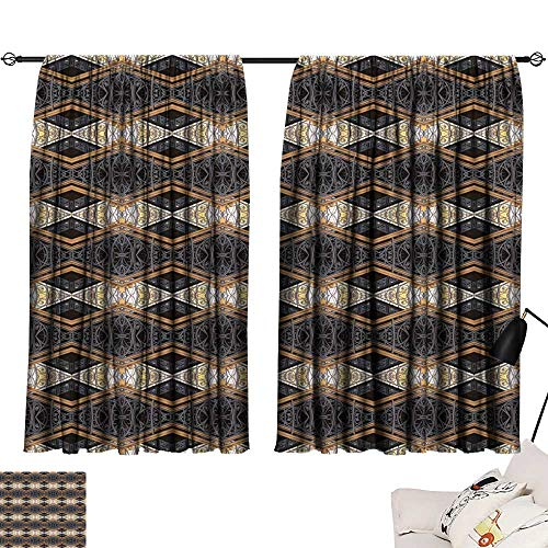Hariiuet Thermal Insulated Blackout Curtains Seamless Wallpaper Pattern 72