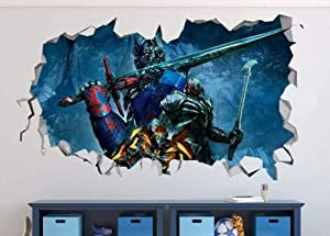 Nicoole Wall Sticker Optimus Prime Megatron Mashed Wall Decal Wall Sticker