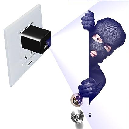 Cámara Espía Oculta Escondida HD 1080p Cargador de Cámara USB Wall Charger Teléfono Adaptador Built-