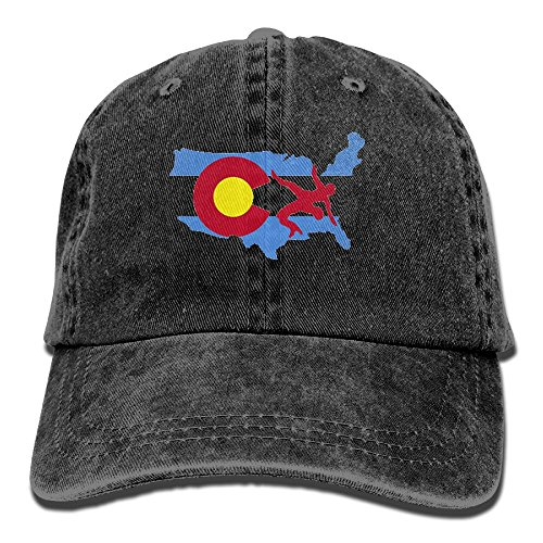 KIOJIANM USA Wrestling Unisex Baseball Caps Cool Snapback Hats Crazy Trucker Hats Fashion Denim Cap by KIOJIANM