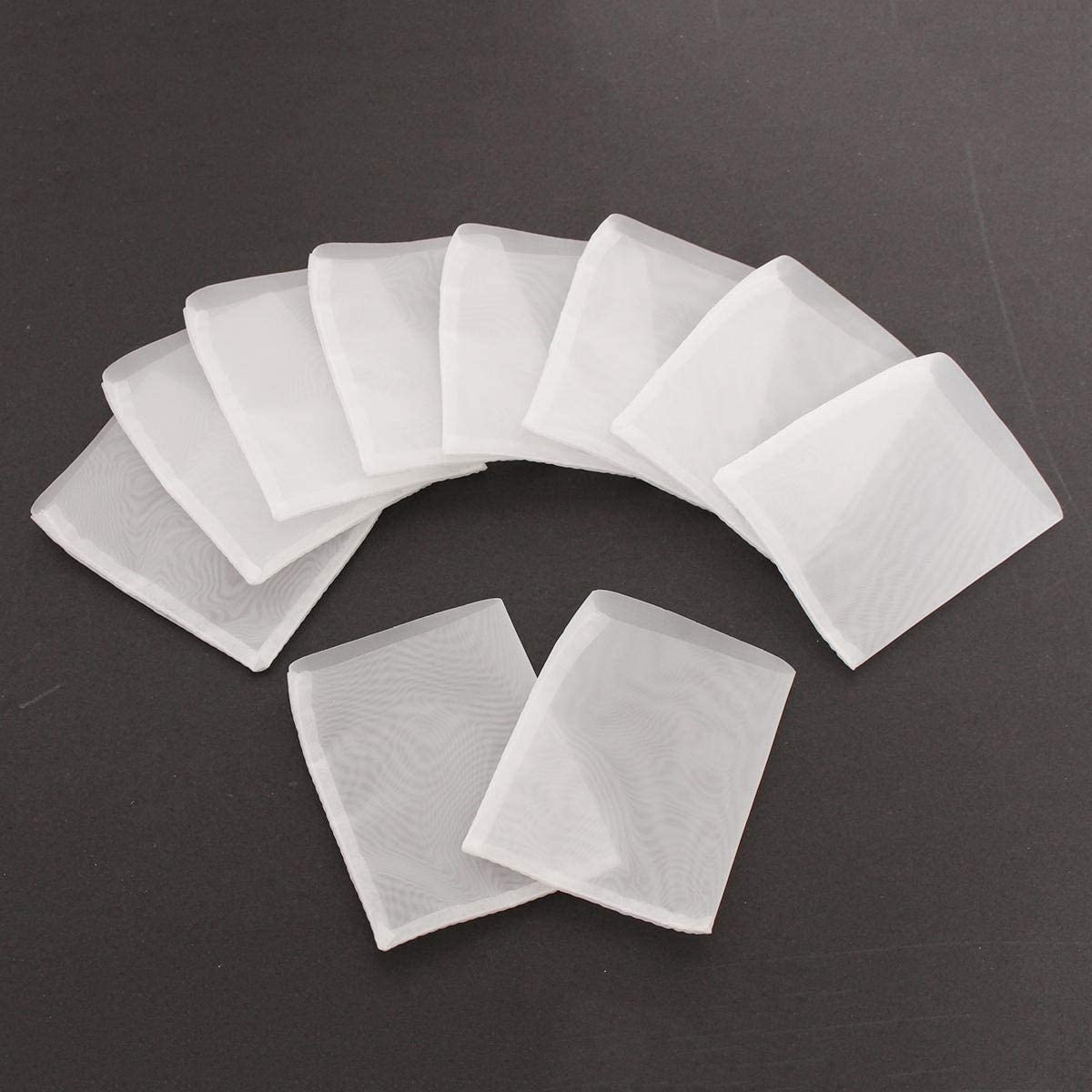 Ctghgyiki 90u 10pcs Rosin Extraction Press Heat Filter Bags Nylon White 63.5 x 76mm Mesh