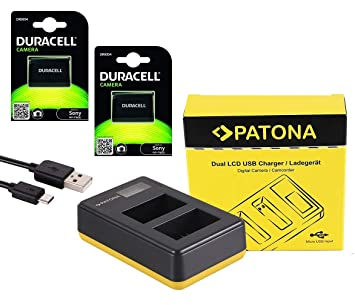 PATONA - Set de batería y Cargador para Sony Alpha 6000 6300 ...